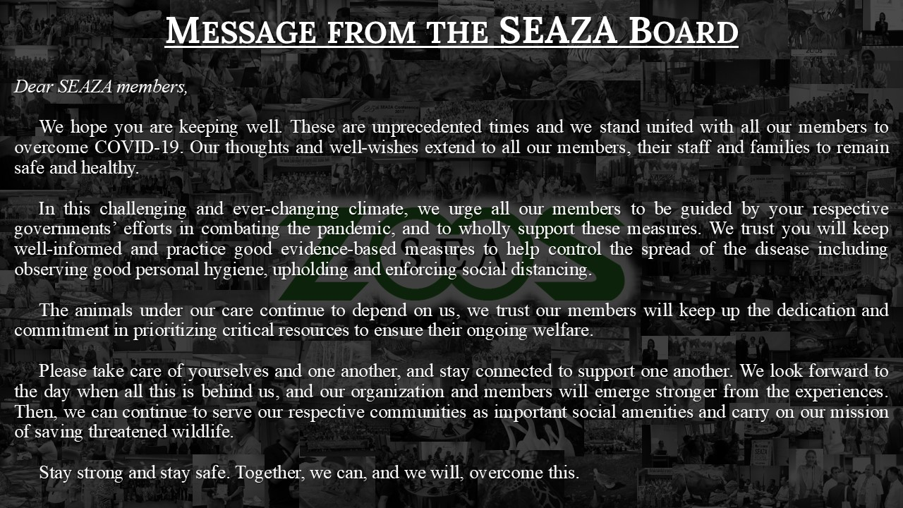 SEAZA Message re Covid